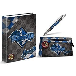 aucun Harry Potter binder A4 - Ravenclaw + Harry Potter pencil case - Ravenclaw + Harry Potter pen - Ravenclaw 14 cm