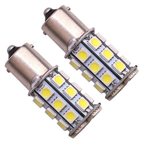 Car LED Brake Turn Signal (27smd Blanc Light) 1157 toujours lumineux One 2 Pack1 Paire Merdia 1157 5.4 W 40LM 27 x 5050SMD LED Lumière blanche pour volant de voiture/Frein/
