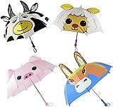 BUSDUGA - Sicherheits-Kinderregenschirm mit LICHT & SOUND vers. Tiermotive ca. 75cm (Pferd)