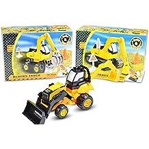 HC-Handel 916209 Baufahrzeug Zusammenbauen Baufahrzeug Spielzeugbagger sortiert 23 x 16 cm