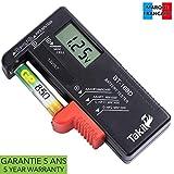 TAKIT Batterietester Digital Für AA, AAA, C, D, PP3, 9V, 1,5V, Knopfzellenbatterien - 5 Jahre Garantie