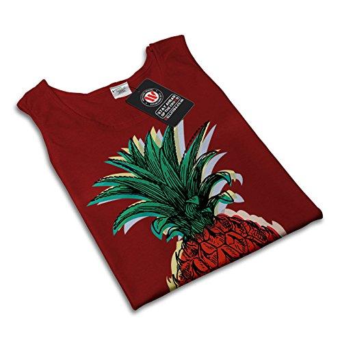 Ananas Frucht Essen Frucht Saft Damen S-2XL Muskelshirt   Wellcoda Rot