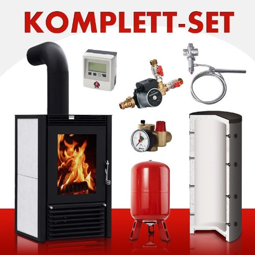 Komplett-Set Kaminofen wasserführend Marbella Compact