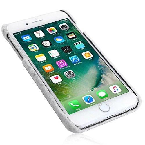 iPhone 7 Plus Flaumig Hülle, iPhone 7 Plus Hülle, Lifetrut Modische dünne [Flauschige Abdeckung] Glatte harte schützende Snap Case Shell für iPhone 7 Plus [Rosa] E204-Rosa