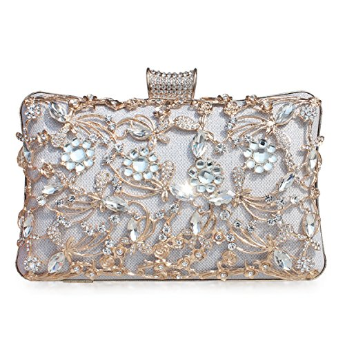 e966808b17 GESU Large Womens Crystal Evening Clutch Bag Wedding Purse Bridal Prom Handbag  Party Bag.(