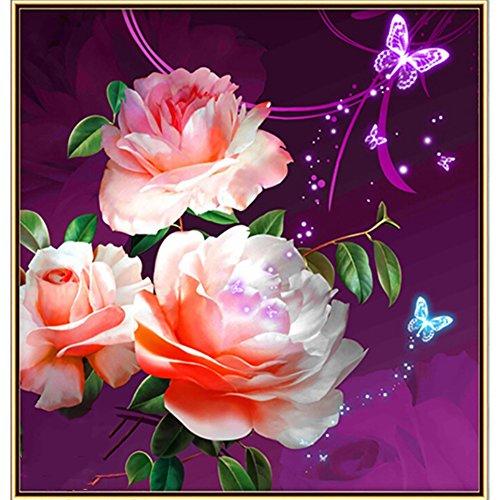 KIM DEC Diy 5d Diamant-malerei Stickerei-kits Vollständige bohrer Kreuzstich Wand-dekoration Crystal Strass Sonnenblumen Für erwachsene Rich Pfingstrose-A 20*20in