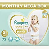 #8: Pampers Premium Care Pants Diapers Monthly Box Pack, X-Large, 72 Count