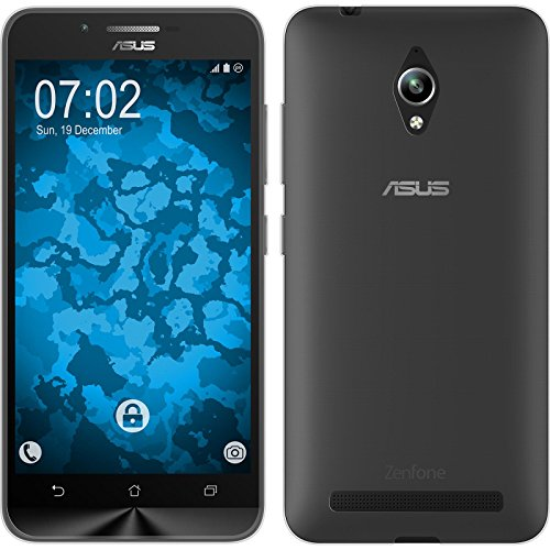 PhoneNatic Case für ASUS Zenfone Go (ZC500TG) Hülle Silikon Clear, Slimcase + 2 Schutzfolien