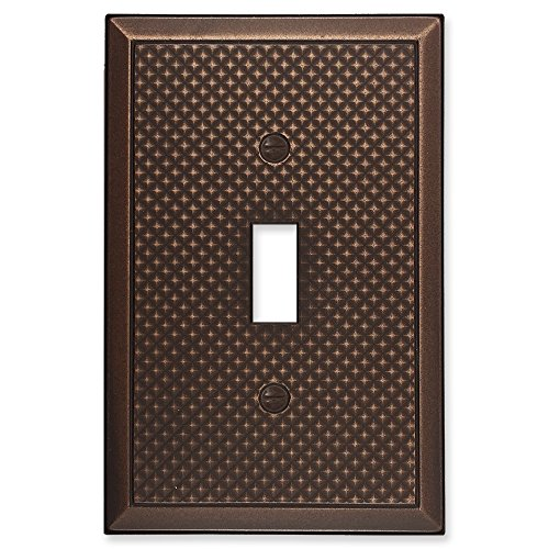 questech Pyramid Dekorative Switch Plate/-Auslass Cover Single Toggle 3PK Oil Rubbed Bronze (Bronze Lichtschalter)