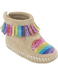 Minnetonka Kids Baby Girls Free Range Mama Love One Another (Infant) Stone  Boot 2