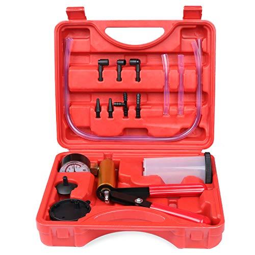 HSEAMALL KFZ Bremse Vakuumtester ,Vakuumpumpe Bremsenentlüfter Bremsenentlüftung tragbar, Handheld KFZ Bremse Vakuum Tester