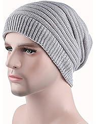 Qiaoba- Hommes d'automne et d'hiver, chaude, chapeau de capuchon, tricot, chapeau à tricoter