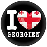 Button / Badge / Pin -- I Love Georgien Fahne Flagge (I Love Georgien)