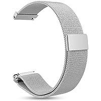Ersatzbänder für Garmin Vivoactive 3 Fitness Uhr 20mm Einstellbare Milanese Mesh Loop Edelstahl Metallband Schnellspanner Zubehör Armband