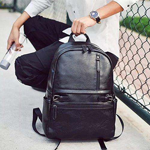 Best mens leather backpack in India 2020 Fur Jaden Black Artificial Leather Laptop Backpack Bag for Men Image 6