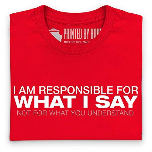 I Am Responsible T-shirt, Uomo Rosso
