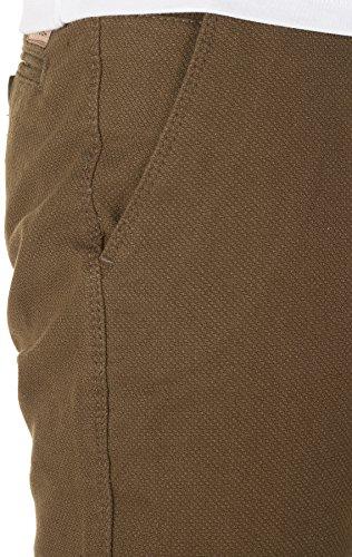 WOTEGA Herren Chino Hose Rengar - mit feinem Hahnentritt-Muster khaki (0814)