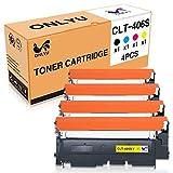 ONLYU CLT-406S CLT-K406S CLT-C406S CLT-M406S CLT-Y406S kompatibel Toner kartusche für Samsung Xpress CLP-360 CLP-360N CLP-365 CLP-365W CLP-368 C410W C460W C467W CLX-3300 CLX-3305 4-pack (1B/1C/1M/1Y)