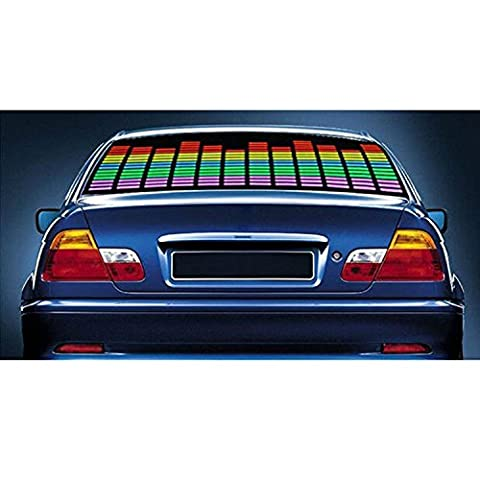 Eximtrade Auto LED Licht Klingen Musik Aufkleber Equalizer Leuchten Audio