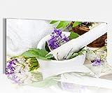 Acrylglasbild 100x40cm Wellness Spa Kräuter Blumen lila weiß Feng Shui Ruhe Acrylbild Acryl Druck Acrylglas Acrylglasbilder 14A8813, Acrylglas Größe1:100cmx40cm