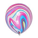 TOOGOO 10PZ 12 pollici Marmo Nuovo Natale Agata Latex Balloon Marblezided Wedding Party Balloon festa di compleanno aerostati del lattice di decoro per Baby Shower partito dei capretti multicolore