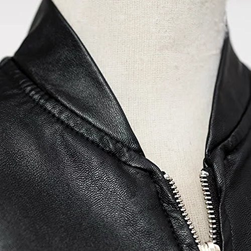 Mesdames Veste de Moto en Cuir Imitation Cuir Blouson Veste Biker Noir
