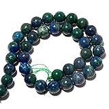 Azurite perline/naturale con Malachite/perline rotondo 10mm/17,8cm mezza ciocca–BB43