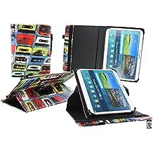 Emartbuy Medion LifeTab P9701 9.7 Zoll Tablet PC Universal ( 9 - 10 Zoll ) Retro Kassette 360GradRotierendeStandFolioGeldbörseTascheHülle + Eingabestift
