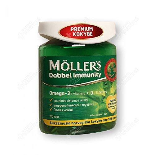 NORDIC MLLER'S DOBBEL Immunity fish oil, vanilla flavor, 100 capsules by fish oil