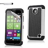 32nd Schutz Stoßdämpfung hülle [ShockProof] für Nokia Lumia 630, Case Cover Top Schutz vor Stürzen und Stößen - Weiß
