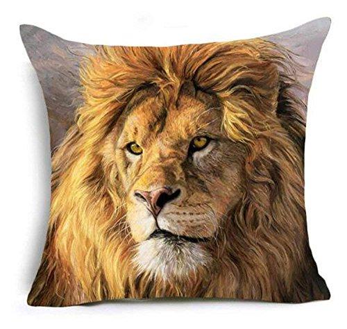 hat pillow 3D Grassland Animal Lion Wolf Marine Turtle Cotton Linen Square Decorative Throw Case Cushion Cover 18inchs (Sex Hug Pillow)
