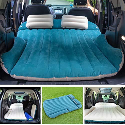 WEY&FLY SUV Luftmatratze Auto Luftmatratze mit Pumpe, 2 aufblasbaren Kissen,Tragetasche,aufgerüsteten Version Luftbett für Auto Matratze aufblasbares Bett Air Bett für Reisen, Camping