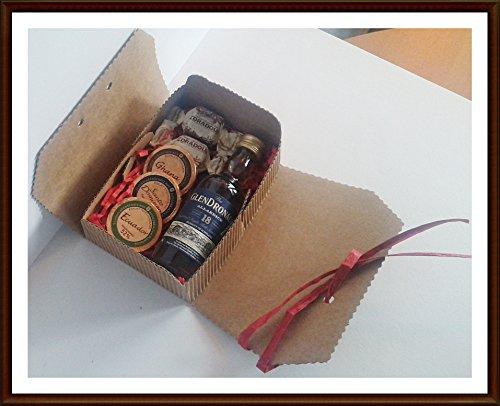 Exklusives Geschenk Glendronach 18 Jahre 50ml Miniatur Single Malt Whisky mit DreiMeister Edel Schokoladen und Whisky Fudge, kostenloser Versand