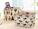 Befunky Fabric Storage Basket Bins,[Set Of 2 Pack] (Tree + Whale Design)