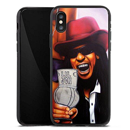 Apple iPhone X Silikon Hülle Case Schutzhülle Lil Jon Crunk Hiphop Silikon Case schwarz