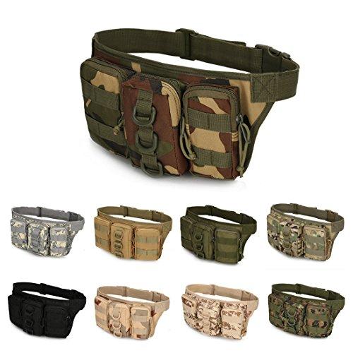 A-szcxtop Multifunktions Tactical Toolkit mit 3verbunden Taschen Taille Pack für Outdoor Sports, Laufen, Wandern, Klettern, Camping und CS Dschungel-Camouflage
