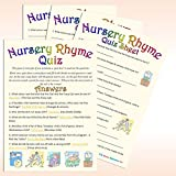 Uk Baby Shower Nursery Rhyme Quiz Party Games (Unisex, Pack Of 10)