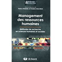 Management des ressources humaines : Méthodes de recherche en sciences humaines et sociales