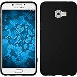 PhoneNatic Custodia Samsung Galaxy C5 Pro Cover nero stuoia Galaxy C5 Pro in silicone + pellicola protettiva