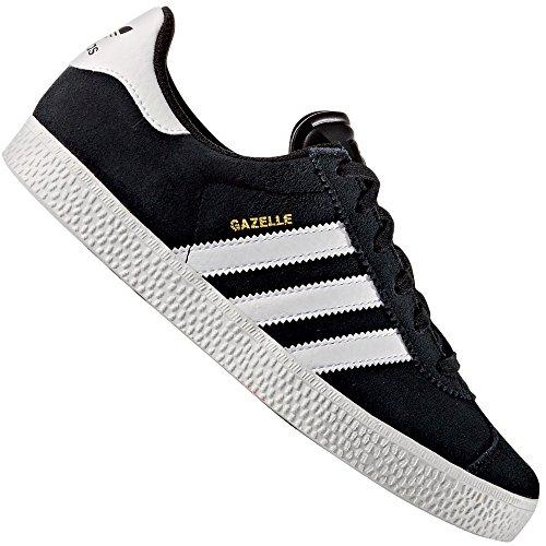 Adidas Gazelle Jungen Sneaker Schwarz, CBLACK/FTWWHT/FTWWHT, * (2 Gazelle Schwarz Adidas)