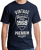 60 Geburtstag Mann Vintage Premium 1958 T-Shirt