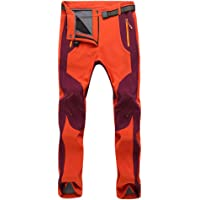 GELing Pantaloni da Trekking Softshell Invernale Unisex Pantaloni Foderati in Pile Pantaloni da Arrampicata Pantaloni da…