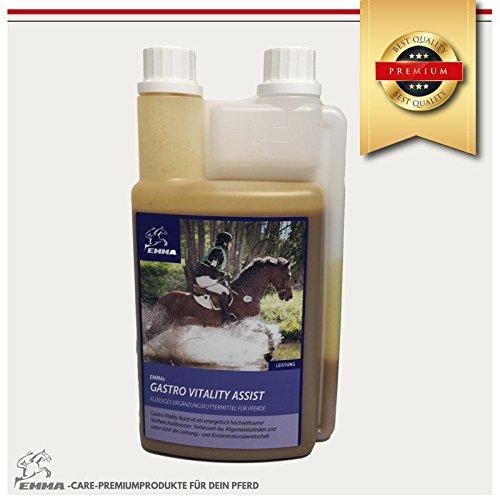 Gastro Liquid fürs Pferd I Ergänzungsfutter I Unterstützung der Magen-Darm-Funktion mit Hefe I Kotwasser I Premiumprodukte EMMA I 1 Liter