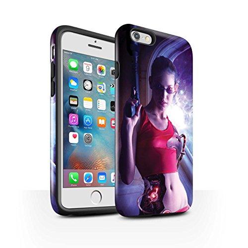 Officiel Elena Dudina Coque / Brillant Robuste Antichoc Etui pour Apple iPhone 6+/Plus 5.5 / Cyborg Design / Super Héroïne Collection Cyborg