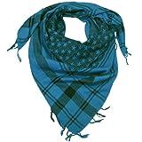 LOVARZI Herren Halstuch Blau - Frauen und Männer Baumwoll Schal Sternen Schal für Männer & Frauen