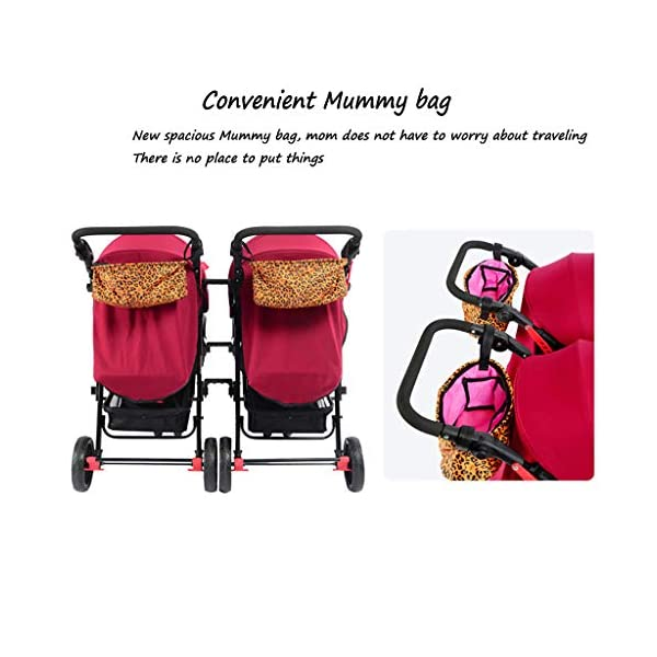 Twin Baby Stroller Sit/recumbent Lightweight Folding Detachable Ultralight Shock Absorber Bb Three-wheeled Trolley Suitable For 0-3 Years Old,L BABY CARRIAGE ZLMI ✿ detachable separately, easy to split and use independently, split twins advantage ✿ one set for three sets: 0-3 years old need one car, no need to buy another single car ✿ Alleviate the travel burden: the baby has their own car in independent action, the reinforced frame is strong in weight! It can bear the weight of two adults at the same time. 3