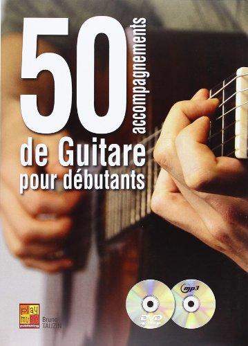 50 accompagnements de guitare pour débutants (1 Livre + 1 CD + 1 DVD) par Stéphane Laisnet