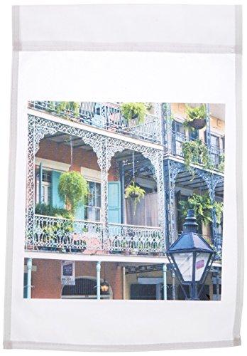 3DROSE FL _ 90472_ 1Louisiana New Orleans French Quarter US19RTI0002Rob Tilley Garden Flag, 12da 45,7cm