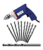 #9: Electrical Simple Drill 10mm 6Hss Bits 1 Masonry Bit Combo