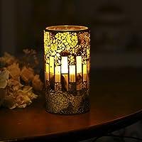 DFL brownness mosaico in vetro con candela in cera, candela